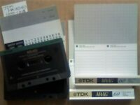 NOW REDUCED 2x GUARANTEED TDK MA-XG 60 1990 METAL CASSETTE TAPES W/ CARDS CASES LABELS AND FREE P&P