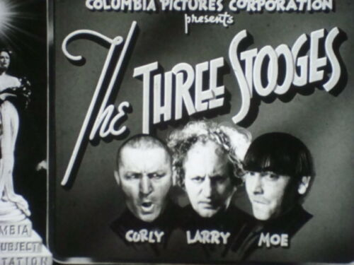 """35mm Short Subject with the THREE STOOGES in """"COOKOO CAVALIERS"""" 1940"""