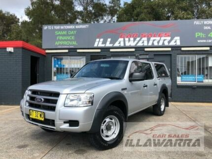 2007 Ford Ranger PJ XL (4x2) Silver 5 Speed Manual Dual Cab Pick-up Barrack Heights Shellharbour Area Preview