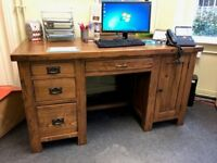 Solid Oak Desk / Display Cabinet / Table - JOB LOT!