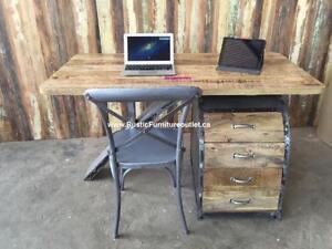Bureau d'ordinateur en bois solide avec chaise GRATUITE!