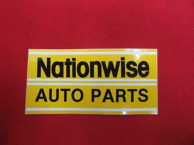 """Used, NOS Vintage Nationwise Auto Parts Decal Sticker Pair 4"""" x 2"""" Drag Racing FC10D1 for sale  Shipping to Canada"""