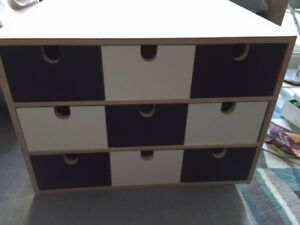 Ikea FIRA Wooden Storage Mini Chest 9 Drawer Organizer