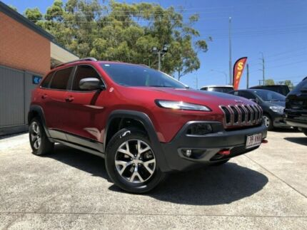 2014 Jeep Cherokee KL MY15 Trailhawk Red Semi Auto Wagon Southport Gold Coast City Preview