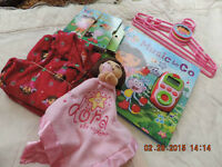 Size 24 Month Dora PJ's, Books and Toy
