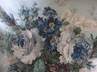 "Vintage Sanderson Screen Printed Furnishing Weight Fabric 48"" x 134"""