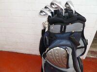 mizuno jpx 850 HD irons reg graphite shafts in very nice cart bag