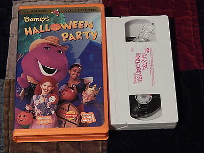 Barney's Halloween Party + Christmas Star + Night Before Christmas (VHS x3) LOT  ()