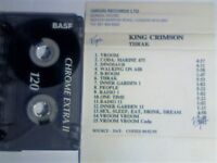 WORLD EXCLUSIVE. KING CRIMSON THRAK UK PROMO CASSETTE TAPE. 09/01/95. MORE OF THE SAME IS AVAILABLE.