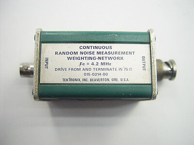 Tektronix 015-0214-00 Continuous Random Noise Measurement Weighting Network