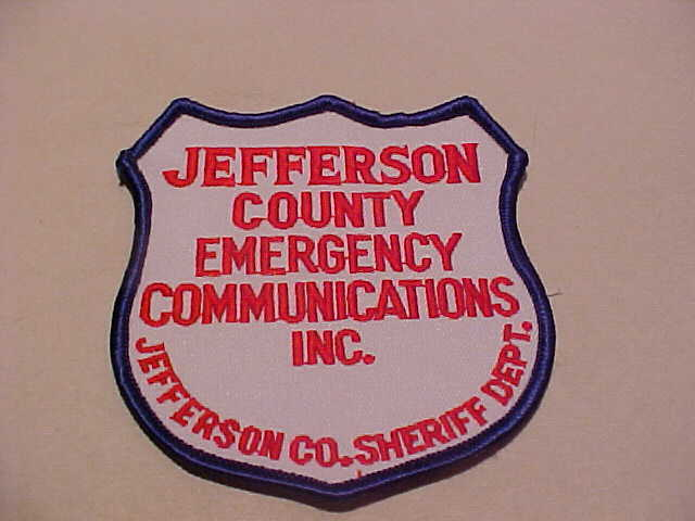 JEFFERSON COUNTY WISCONSIN  911  POLICE PATCH SHOULDER SIZE UNUSED