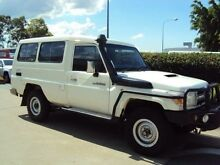 2010 Toyota Landcruiser VDJ78R MY10 GXL Troopcarrier White 5 Speed Manual Wagon Acacia Ridge Brisbane South West Preview