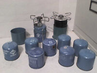 2 Camping Gas Primer Stove Cookers 18 Blue Cartridges