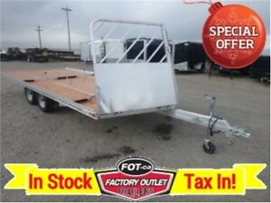 18ft-Aluminum Drive On/Off Sled Trailer *Ski Tie Downs* ~ TAX IN