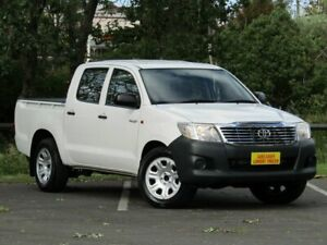 2013 Toyota Hilux TGN16R MY14 Workmate Double Cab White 4 Speed Automatic Dual Cab Strathalbyn Alexandrina Area Preview