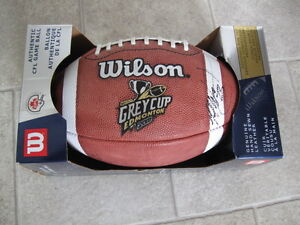 2002 GREY CUP GAME BALL - 90TH GREY CUP -EDMONTON