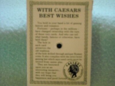 Caecars Lake Tahoe Best Wishes Playing Cards Sealed Used Casino