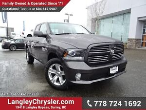2014 RAM 1500 Sport ACCIDENT FREE w/ REAR-VIEW CAMERA & TOW P...
