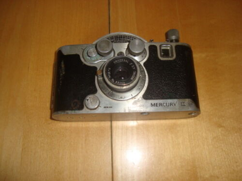1945 MERCURY II CX 35mm 1/2 Frame CAMERA w/UNIVERSAL TRICOR Lens / f3.5