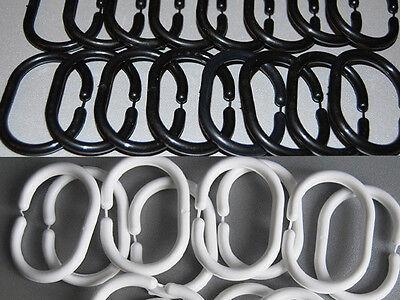 Duschvorhangringe 15x Ringe Duschvorhang Farbauswahl Schwarz Weiß Grau Blau Rosa ()