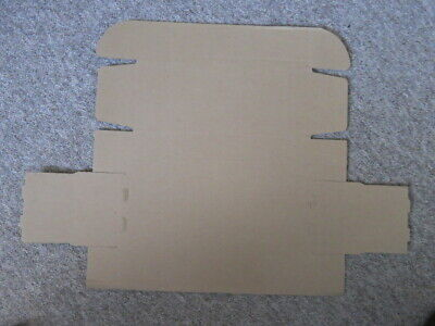 87 X Cardboard Boxes - Flat - New - Full Approximate Size H8 x W12.5 x L34cm