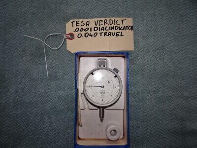 Tesa Verdict .0001 Dial Indicator .040 Travel