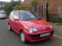 2002- FIAT SEICENTO SX 1.1cc 9 MONTHS MOT GOOD CONDITION £300