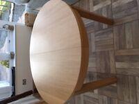 IKEA Bjursta round extending table