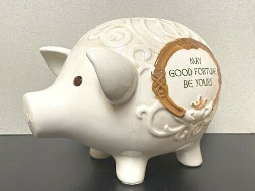 """Grasslands Road / Celtic Piggy Bank """"May Good Fortune Be Yours"""" NEW #463296"""