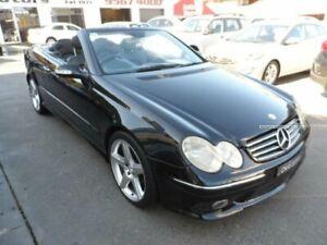 2003 Mercedes-Benz CLK320 A209 Avantgarde Black 5 Speed Auto Touchshift Cabriolet Rockdale Rockdale Area Preview