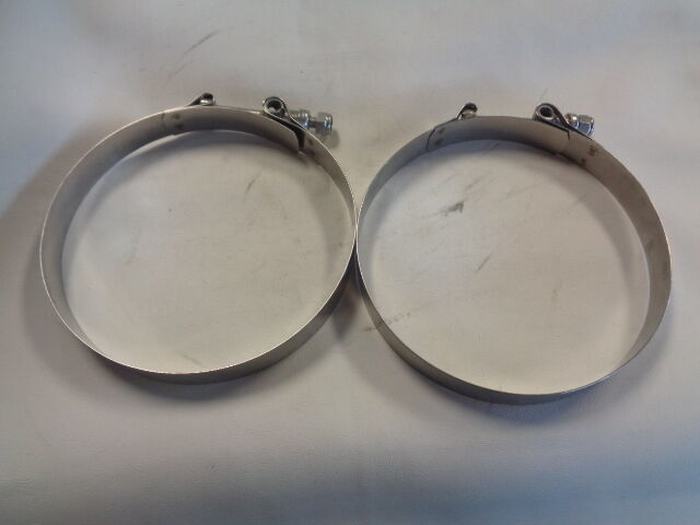 VOSS D40H-75 550-SL STAINLESS STEEL HOSE CLAMP PAIR ( 2 ) MARINE BOAT