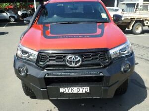 2018 Toyota Hilux GUN126R Rugged X Double Cab Orange & Black 6 Speed Manual Utility Young Young Area Preview