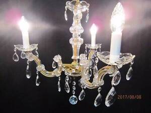 Italian Vintage 1960s Three Arm Crystal Chandelier Balga Stirling Area Preview