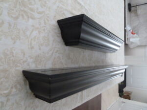 Crown moulding floating wall shelves