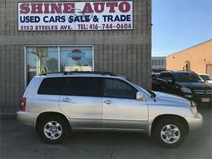 2003 Toyota Highlander V6 AWD SERVICED AT TOYOTA