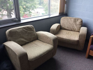 Two Comfortable Living Room Chairs