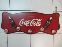 Classic Custom Coca Cola Hand Painted Wall Mounted Coat Hanger