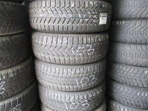 195/65 R15 UNIROYAL TIGER PAW WINTER TIRES ON FORD FOCUS STEEL RIMS USED SNOW TIRES (SET OF 4 - $400.00) - APPROX. 85% T