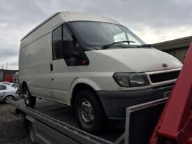 2001 Ford Transit rear wheel drive, starts and drives, trade sale, being sold as seen, smashed winds