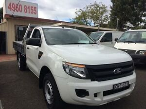 2012 Ford Ranger PX XL 2.2 (4x2) White 6 Speed Manual Cab Chassis Kooragang Newcastle Area Preview
