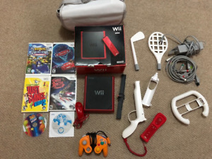 WII MINI FOR 60$ (ALL ACCESSORIES AND GAMES INCLUDED)
