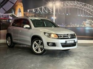 2014 Volkswagen Tiguan 5N MY15 155TSI DSG 4MOTION R-Line Silver 7 Speed Sports Automatic Dual Clutch Prospect Blacktown Area Preview