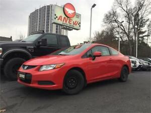 2012 Honda Civic Cpe LX | RUNS MINT | CERTIFIED | $5999