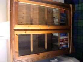 Ducal Victoria Pine Bookcase/Display Cabinet