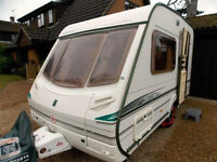Abbey Iona Vogue 2002 (1.99m wide) with Carver Motor Mover and New Dorema Daytona Awning
