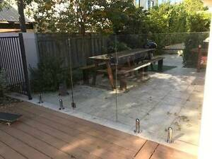 Used Frameless Glass Pool Fencing (6 m in total) Swanbourne Nedlands Area Preview
