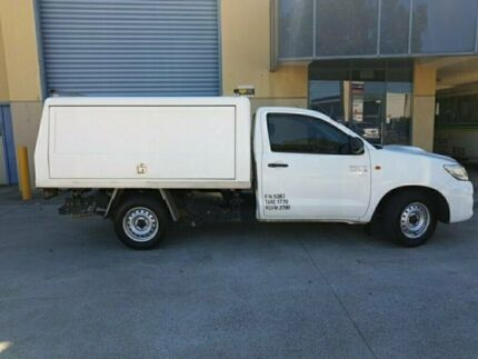 2012 Toyota Hilux KUN16R MY12 SR White 5 Speed Manual Cab Chassis Canley Vale Fairfield Area Preview