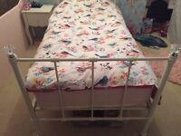 Girls metal frame single bed for sale