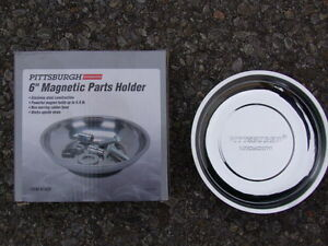 """NEW IN THE BOX 6""""MAGNETIC STAINLESS STEEL PARTS HOLDER"""