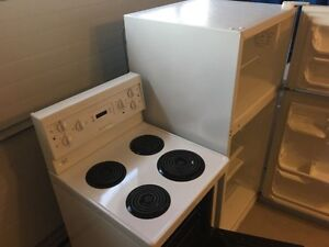 Compact fridge and stove excellent condition